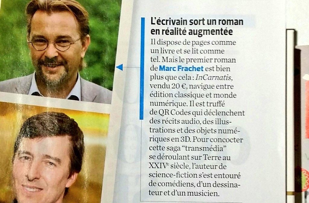 Article sur Marc Frachet paru le magazine papier 01NET le 16 décembre 2016
