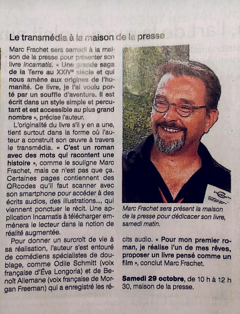 Article sur InCarnatis et Marc Frachet