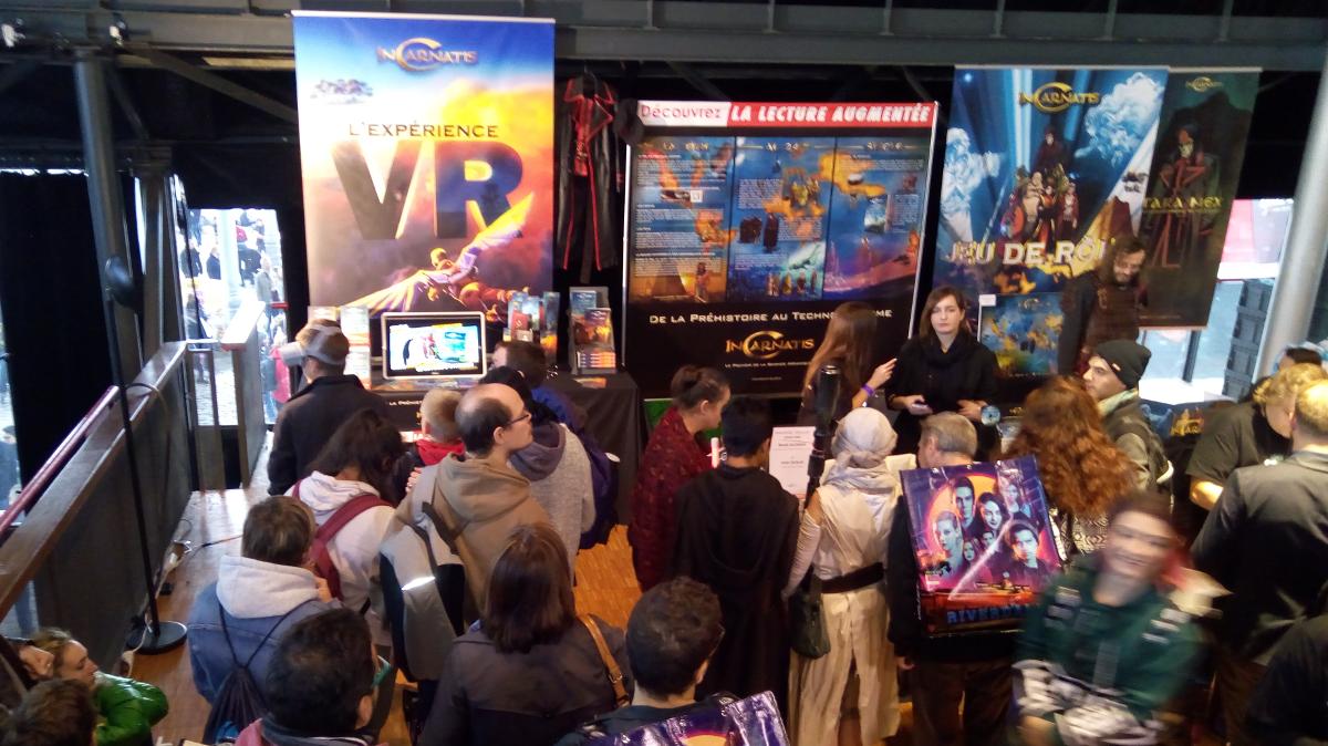 L'expérience salon InCarnatis : trilogie tranmédia, réalité virtuelle et jeu-de-rôle